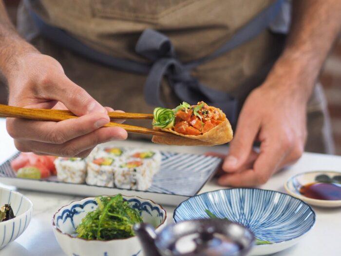 A carne cultivada com células é uma tendência do mercado vegano - Imagem do salmão à base de células da Wildtype