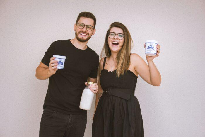 Os fundadores da empresa de leite vegetal
