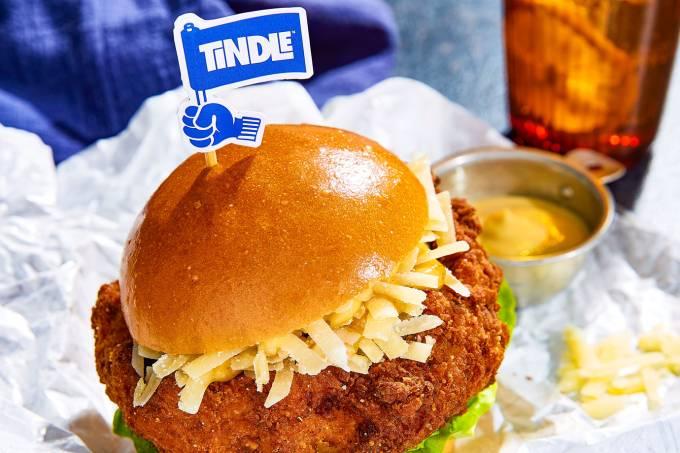 Startup de frango vegano - marca TiNDLE