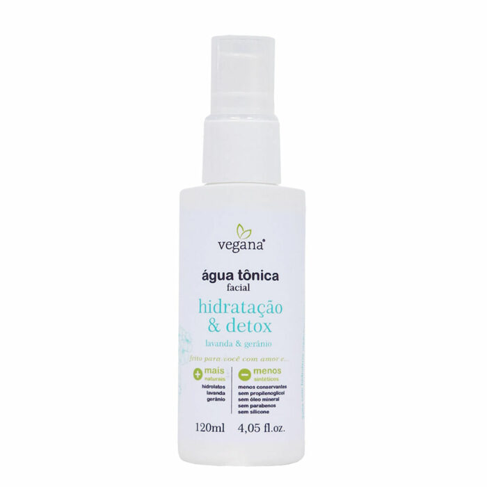 Água Tônica Facial Vegana Hidratação & Detox